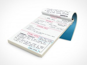 PSD Mockup Open Notepad School Notebook