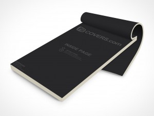 PSD Mockup Open Notepad Sketch Sales Receipts