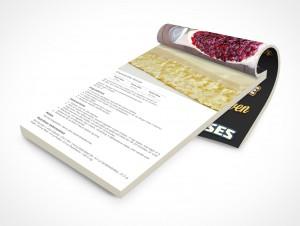 PSD Mockup Open Notepad Cheese Cake Recipes