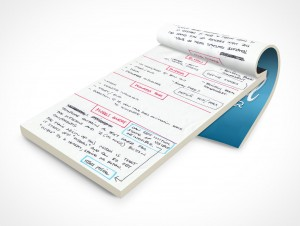 PSD Mockup Open Notepad School Notebook