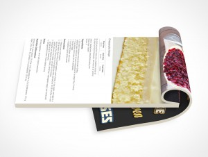 PSD Mockup Open Notepad Cheese Cake Recipes