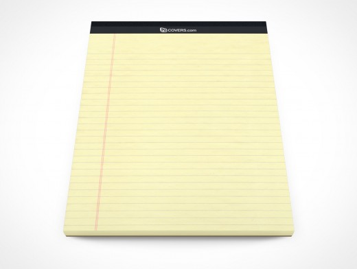 PSD Mockup Office Stationary Lined Paper Pad