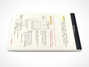 PSD Mockup Office Stationary Concept Sketching Pad