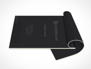 PSD Mockup Office Open Stationary Sketch Note Pad
