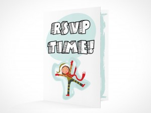 PSD Mockup RSVP youth party invitation card