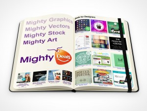 PSD Mockup hardcover moleskine mighty deals