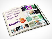 PSD Mockup 3 quarter view moleskine mighty deals