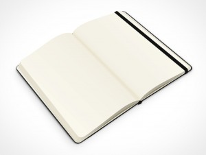 PSD Mockup hardcover blank new 45 degrees moleskine