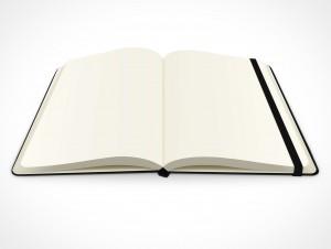 PSD Mockup hardcover blank moleskine sketch notebook
