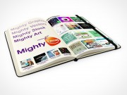 PSD Mockup 30 degrees view moleskine mighty deals