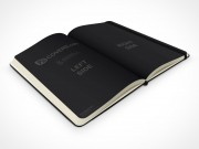 PSD Mockup hardcover moleskine 45 degrees