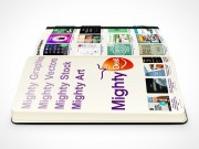 PSD Mockup side view moleskine mighty deals