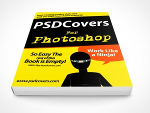 PSD Mockup Photoshop Softcover Manual