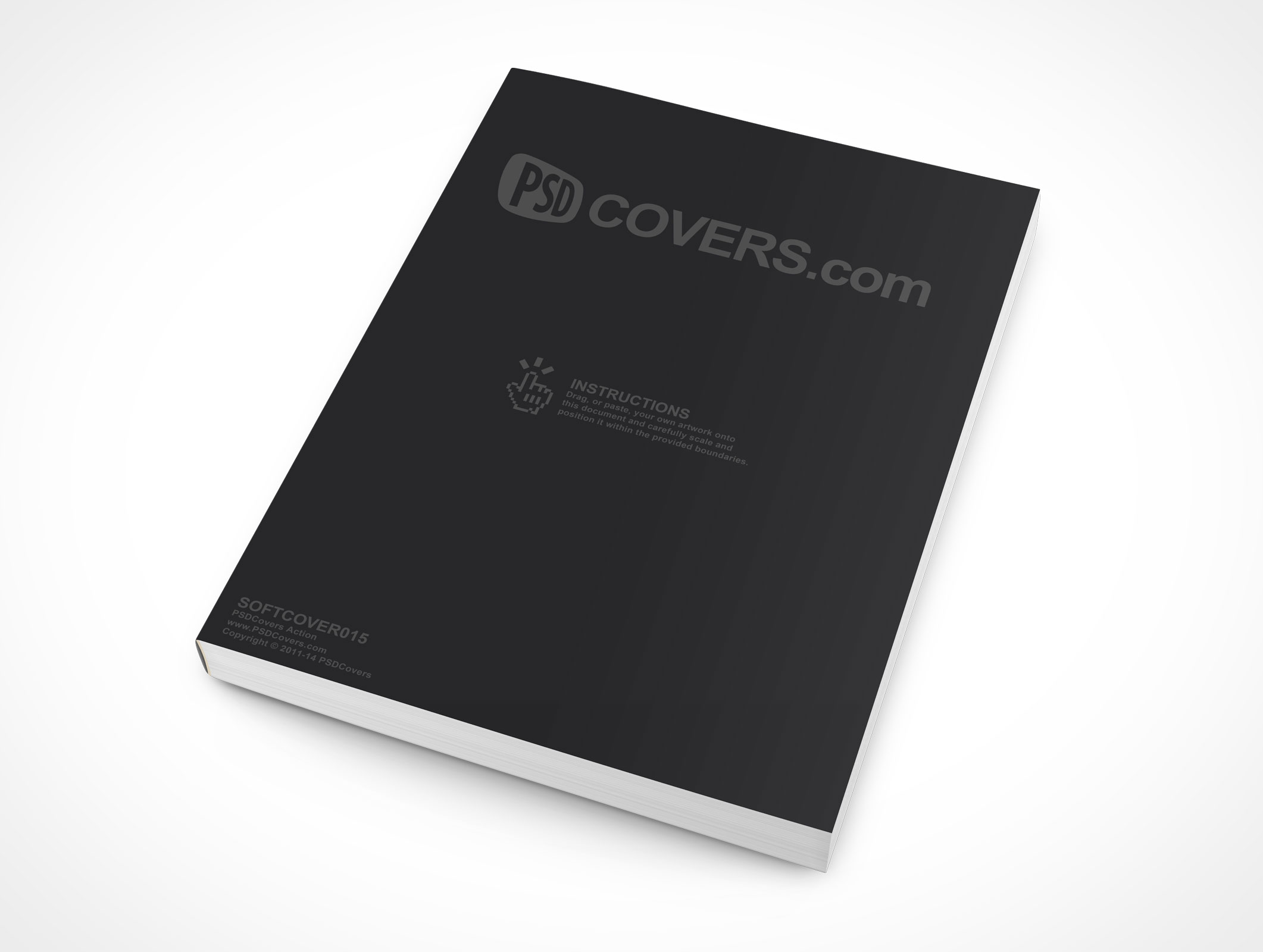 Vintage Soft Cover Book Mock Up : Softcover market your psd mockups for
