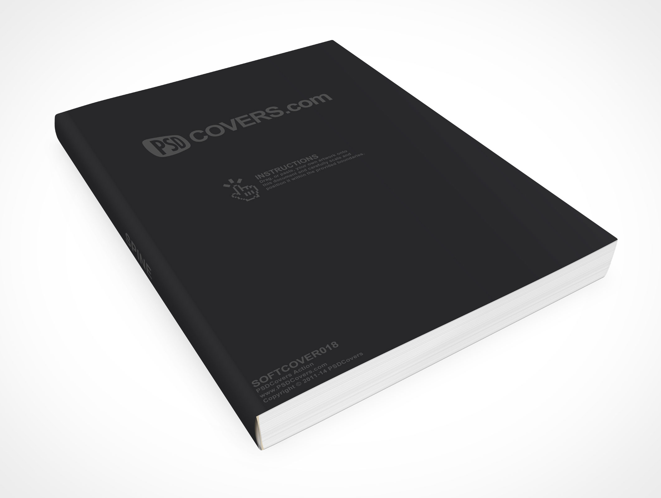 Psd mockup template softcover handbook ebook softcover018 pronofoot35fo Choice Image