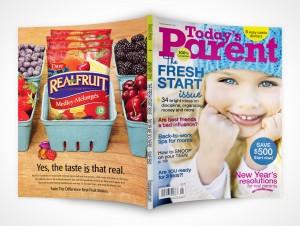 Parent Magazine Mockup Face Down