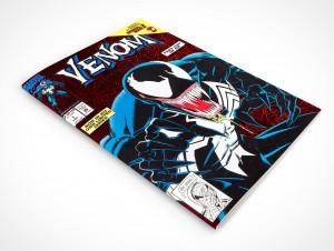PSD Mockup Closed Comic Book Front