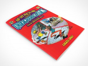 PSD Mockup Rotated Graphic Novel