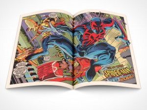 PSD Mockup Comic Book Centerfold