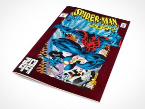 PSD Mockup Rotated Graphic Novel Front