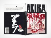 PSD Mockup AKIRA Graphic Novel Face Down