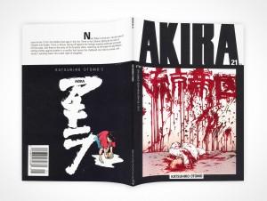 PSD Mockup AKIRA Graphic Novel Face Down