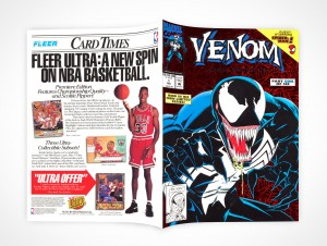 PSD Mockup Softcover Venom Comic Book