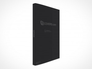 PSD Mockup Standing Upright Quarter View Graphic Novel