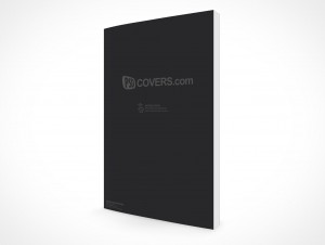 PSD Mockup Standing Upright Rotated View Graphic Novel