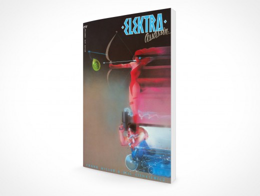 PSD Mockup Softcover Graphic Comic Book Rendered Upright