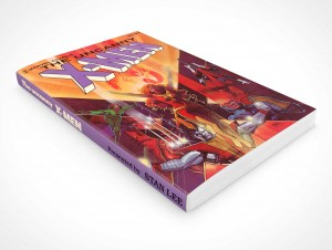 PSD Mockup Softcover Graphic Novel Laying Down