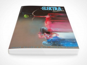PSD Mockup Softcover Graphic Comic Book Rendered Laying Down