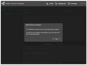 Photoshop Extensions Manager Plugin Installed