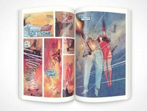 PSD Mockup Graphic Novel Glossy Print Topview
