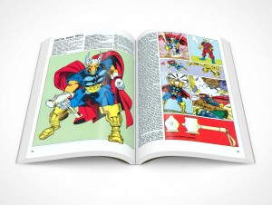 PSD Mockup Softcover Graphic Novel Topview Beta Ray Bill