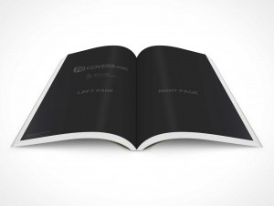 PSD Mockup Graphic Novel 30 Degree Topview Centerfold