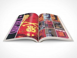 PSD Mockup Product Shot 30 Degree Graphic Novel Topview