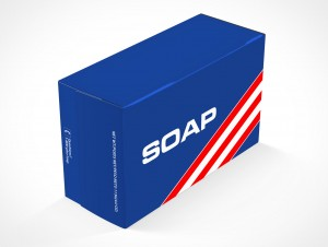 PSD Mockup Generic Product Soap Box