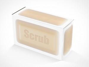 PSD Mockup Scrub Soap Box