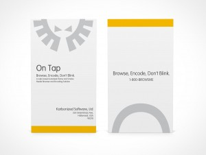 PSD Covers portrait mode business card mockup facing forward