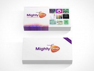 PSD Covers two stacks of business card mockup landscape