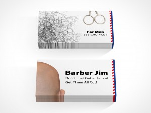 PSD Covers stacks of professional business card mockups