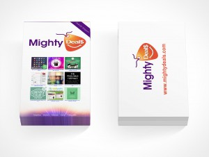 PSD Covers two stacks of business card mockup portrait