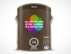 PSD Standing Paint Can Mockup