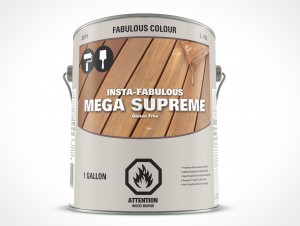 PSD Free Gallon Paint Can Mockup Forward