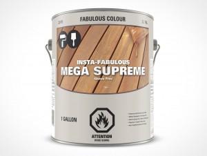 PSD Free Gallon Paint Can Mockup Forward