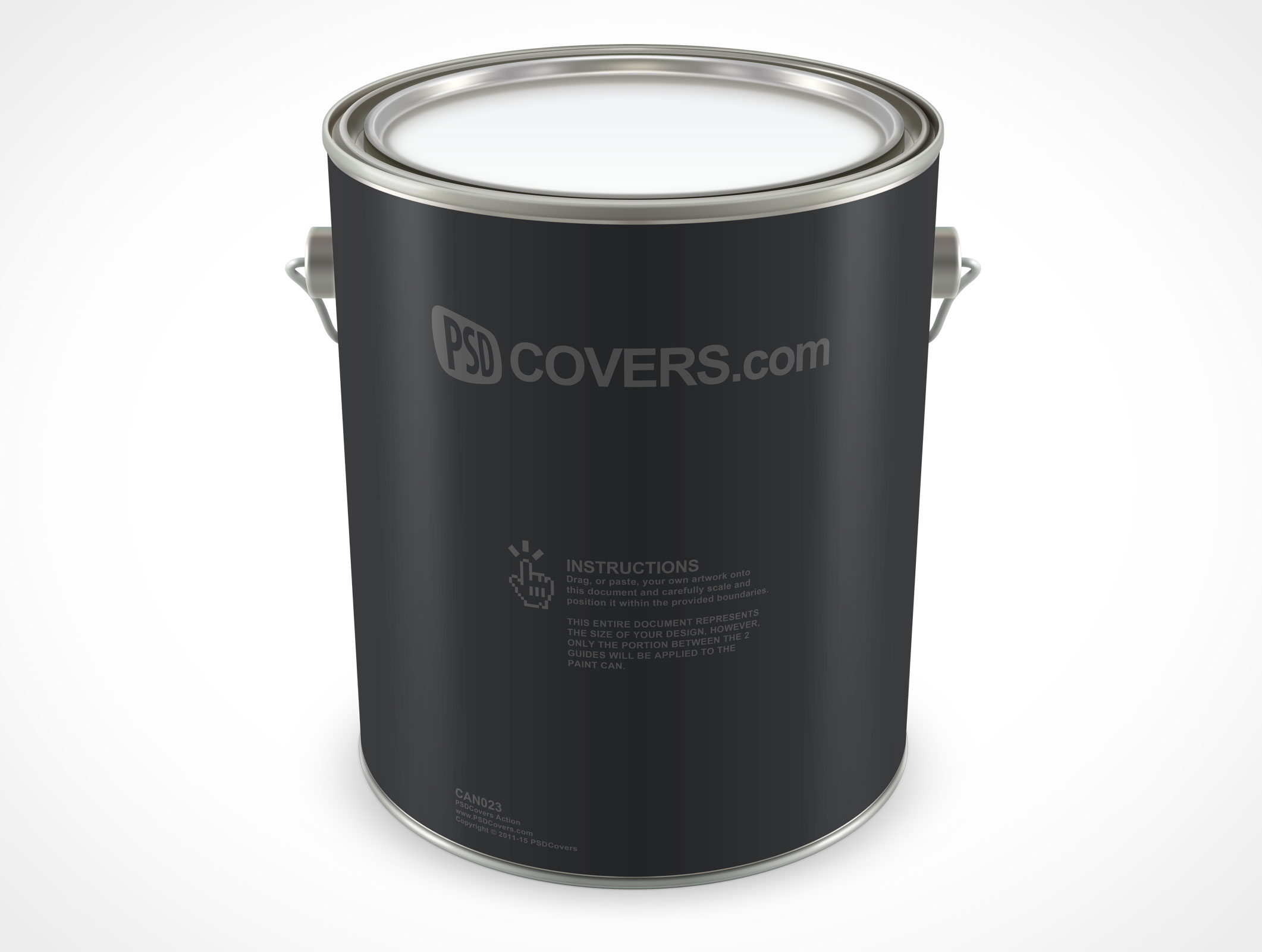 PSD Mockup 1 Gallon Standing Paint Can Top View
