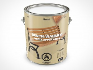 PSD Mockup 3,87L Gallon Wood Stain Paint Can