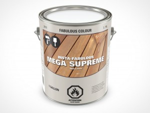 PSD Mockup 3,87L Gallon Paint Deck Stain Can