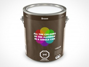 PSD Mockup 3,87L Closed Paint Can Top View